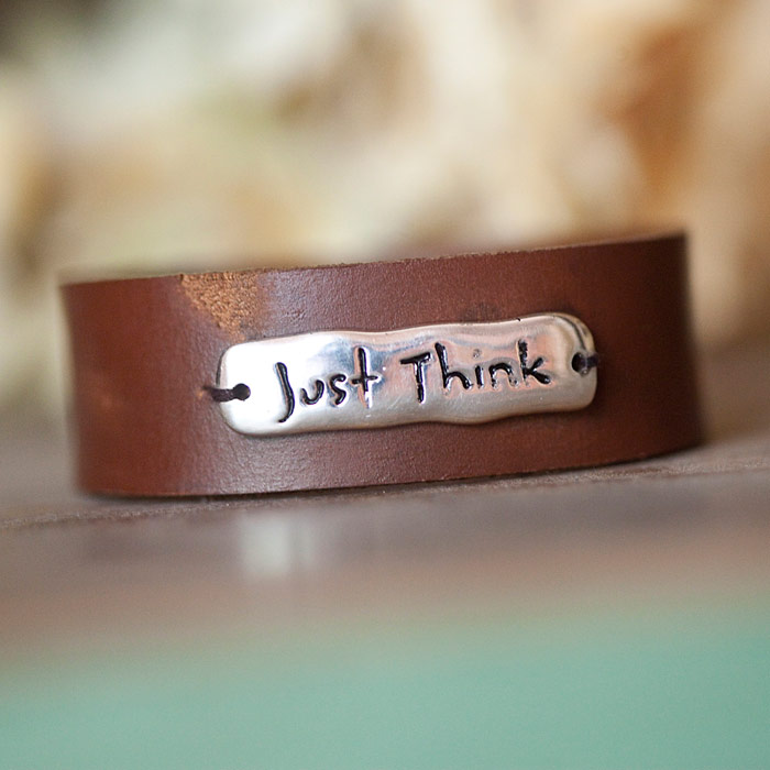 Blessings Unlimited Home Decor: Blessings Unlimited JUST THINK Leather Bracelet Review